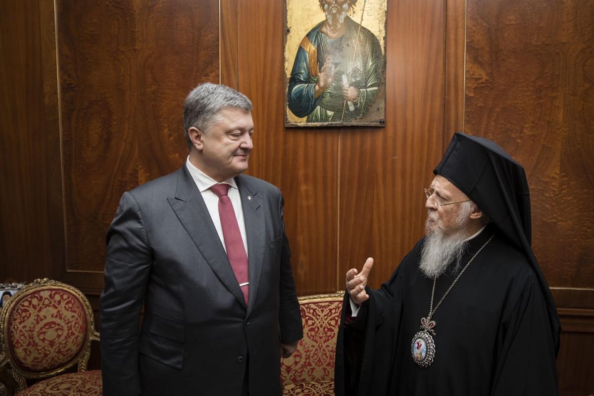 Зустріч Петра Порошенка із Патріархом Варфоломієм відбулася у Стамбулі 9 квітня