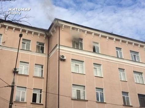Відкритого вогню вуправлінні поліції уЖитомирі немає, загорілась проводка— поліція