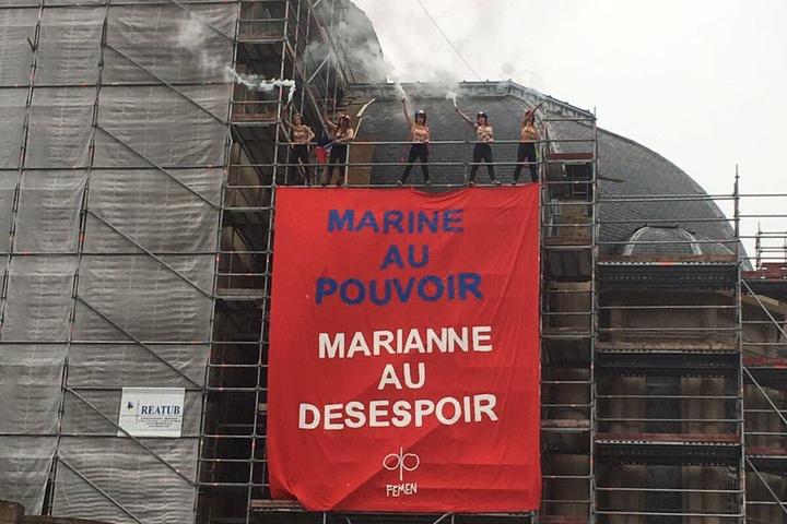 УФранції Femen влаштували акцію проти ЛеПен