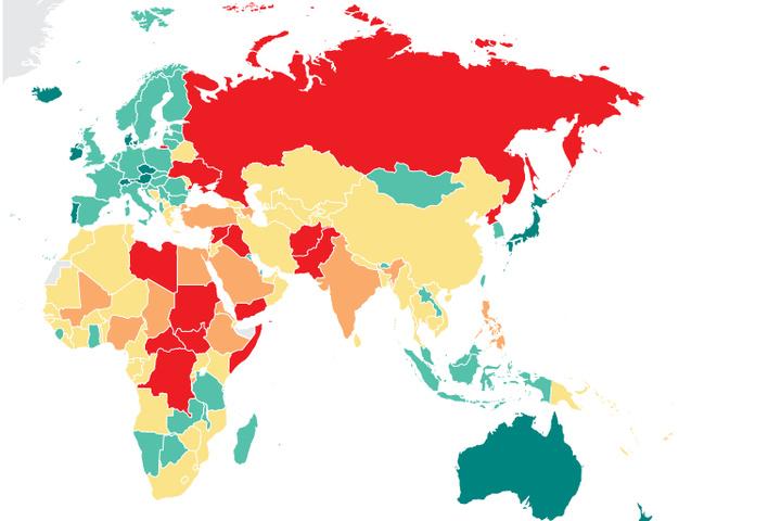 Україна потрапила додесятки найменш миролюбних країн