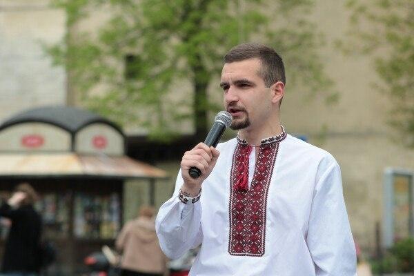 <span lang=&quot;UK&quot;>Представник львівського обласного осередку «Національного корпусу» Святослав Сірий</span>