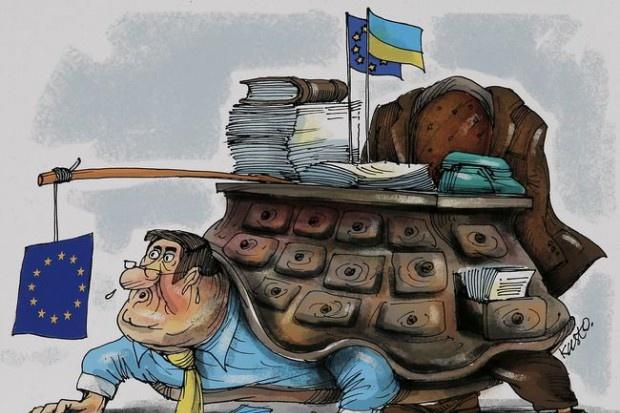 УКиєві відкрилася виставка карикатур про шлях України до«безвізу»