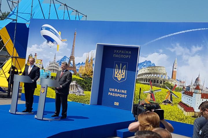 ВУжгороді Петро Порошенко відкривав «двері» в Європу вантажівкам