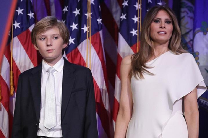 Меланія Трамп зсином переїхали в Білий дім