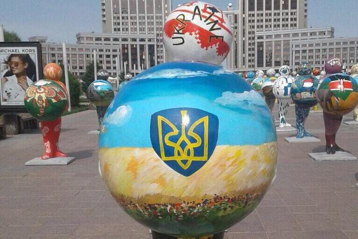 Нафестивалі вКазахстані прибрали карту України без Криму
