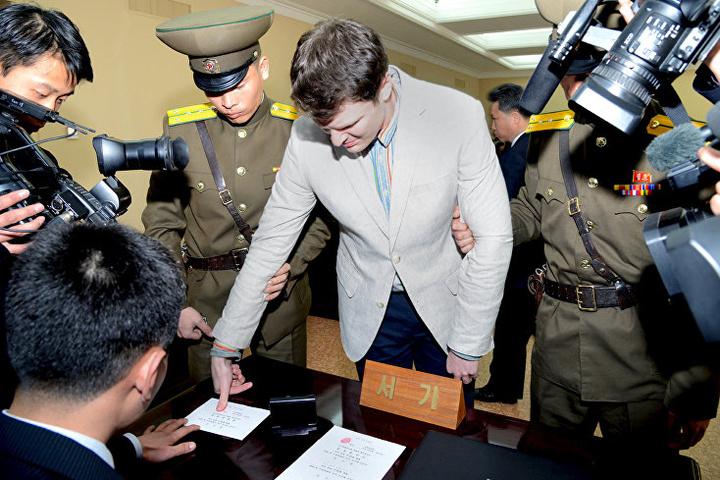 КНДР відпустила засудженого заспробу крадіжки агітплаката студента зСША