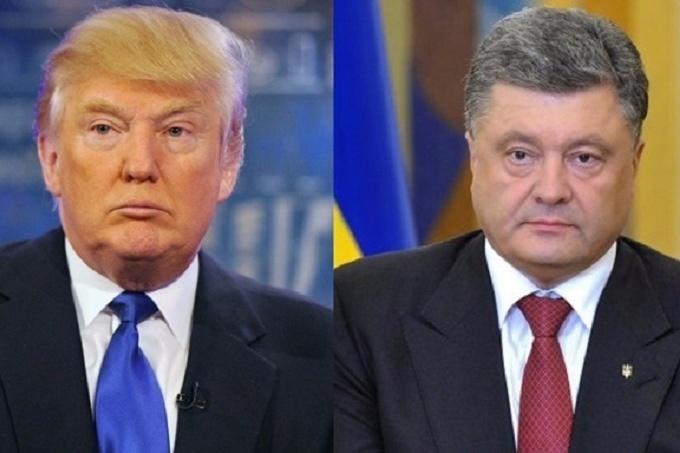 Фотоколаж: Трамп і Порошенко