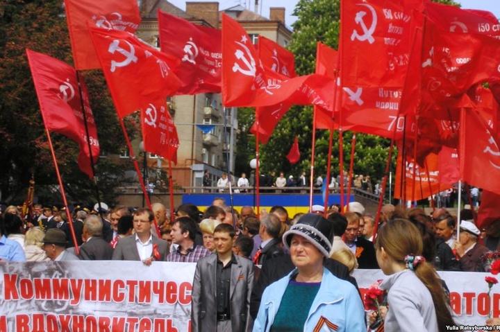 <p>Марш, який організовував «Союз радянських офіцерів», 9 травня 2014 року</p>