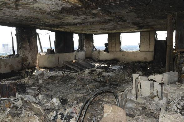 Знищений вогнем лондонський будинок