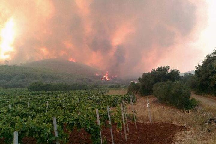 Пожежа в Хорватії