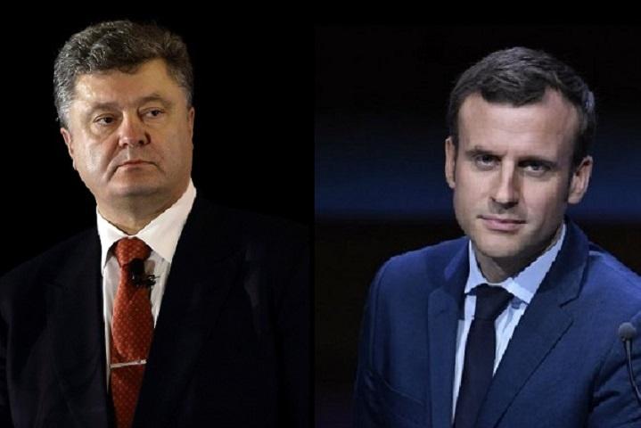 Порошенко зустрінеться з Макроном для пошуку рішення щодо Донбасу