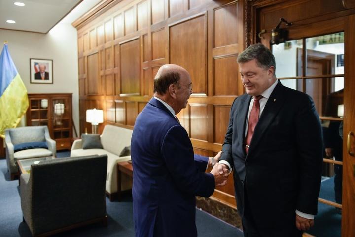 П.Порошенко уВашингтоні обговорив розширення експорту української продукції доСША