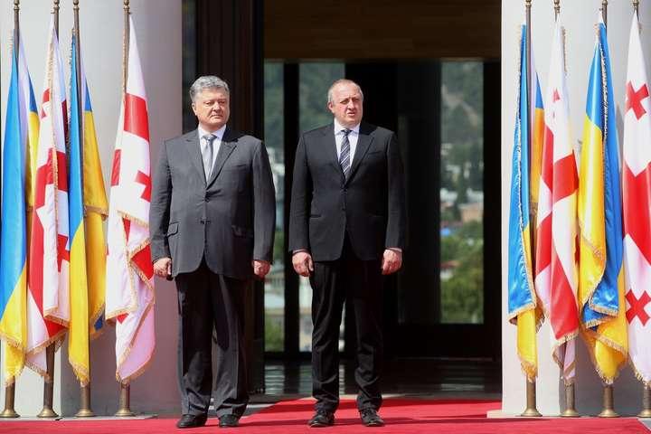 Лідери Грузії таУкраїни домовилися координувати дії щодо інтеграції в євроатлантичні структури