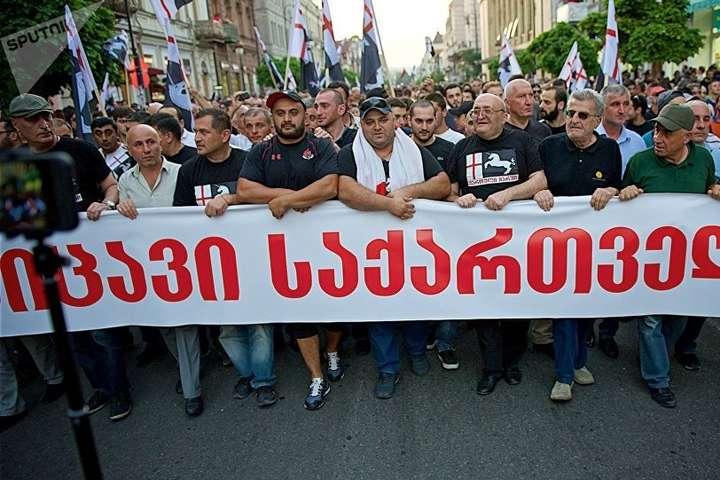 «Ні російському фашизму»: уГрузії пройшов марш