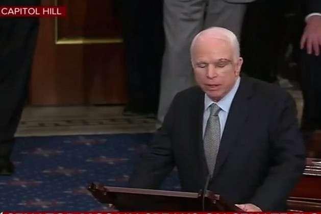 З'явилось відео повернення Маккейна вамериканський Сенат