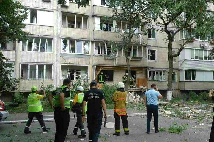 КМДА: визначається кількість мешканців, які потребують відселення після вибуху вбудинку