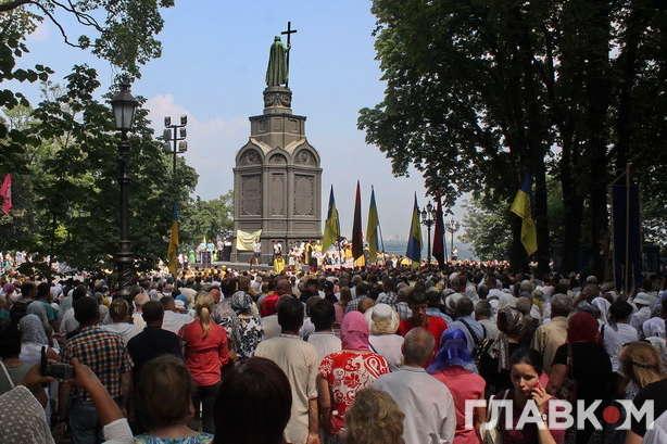 УКиєві триває хресний хід вірян Київського патріархату