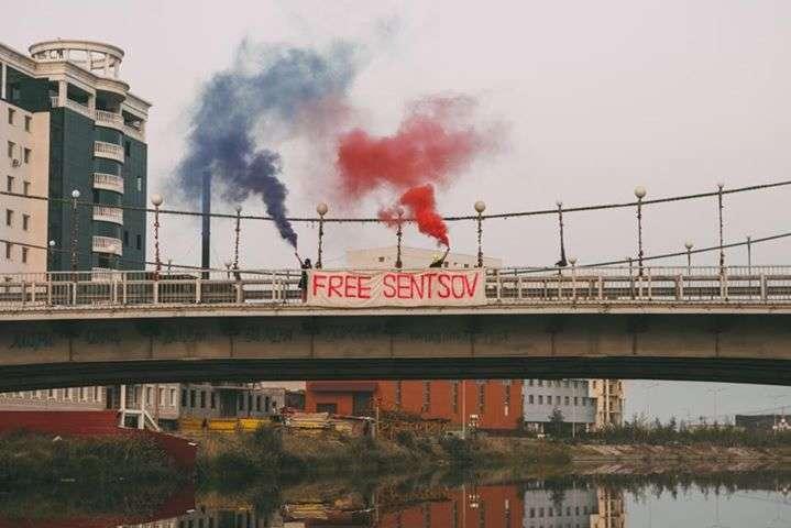 Активістки Pussy Riot провели акцію звимогою звільнити Олега Сенцова