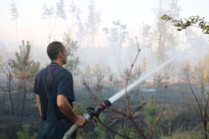 Насхідній околиці Києва горить 4 гатрави