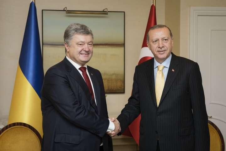 Стратегічне партнерство: Порошенко і Ердоган зустрілися урамках Генасамблеї ООН