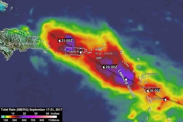 Ураган «Марія» з новою силою рухається у бік Багамських островів