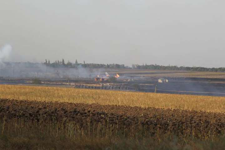 ДСНС: пожежу наскладах боєприпасів уДонецькій області ліквідовано