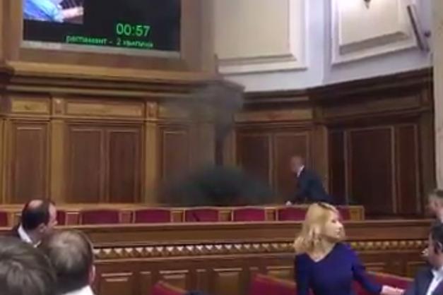 Поліція відкрила кримінальне провадження зафактом кидання «димовухи» взалі Ради