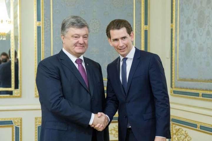 Порошенко привітав перемогу Курца навиборах вАвстрії