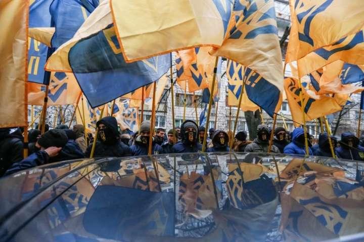 <p>Активісти відзначають третю річницю Євромайдану, яка відсторонила від влади Януковича — союзника Путіна.</p>
