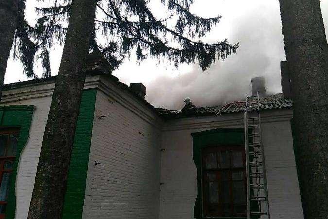 ВВинницкой области горела школа