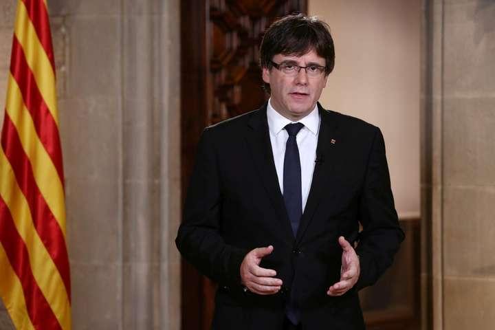 Пучдемон назвав себе «легітимним» главою Каталонії