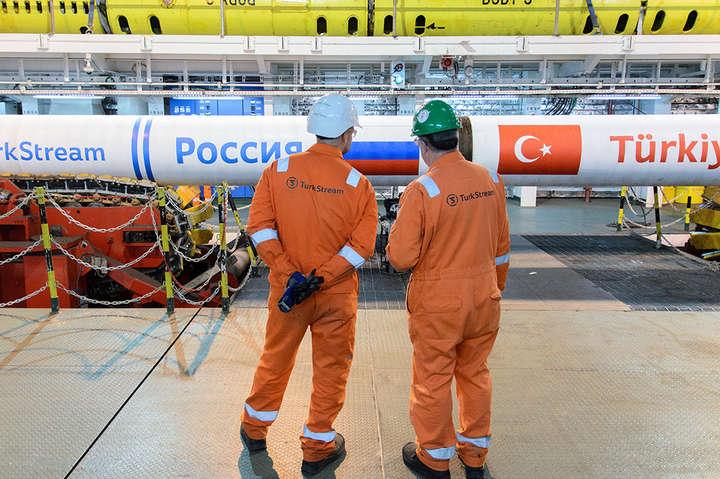 Газпром добудував Турецький потік натериторії РФ