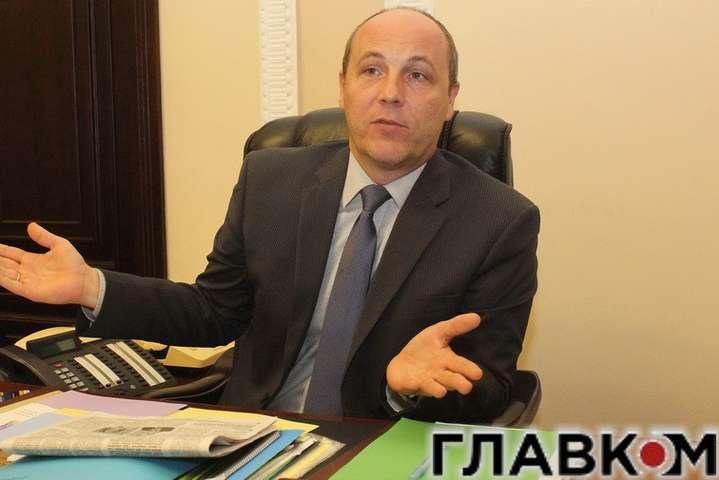 Парубій засуміщення посади міністра здепутатством