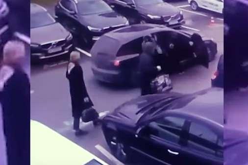 Пограбування в Києві: камера зафіксувала момент зухвалого нальоту