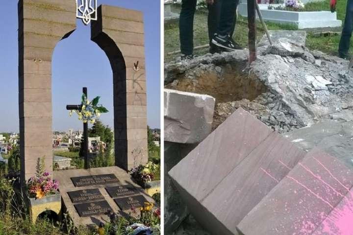 УПольщі рештки демонтованого пам'ятника УПА використали для будівництва дороги