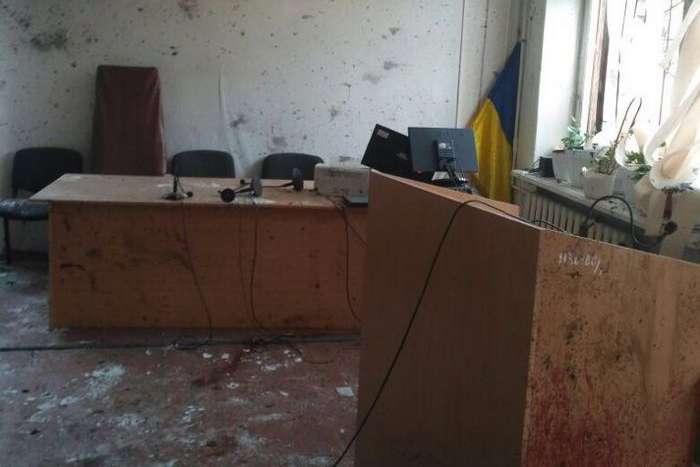 Наслідки вибуху в Нікопольському суді