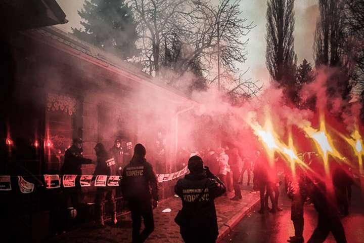 УКременчуці націоналісти побилися зполіцією: опубліковано відео