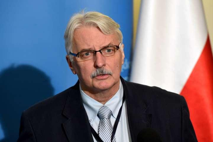 Голова МЗС Польщі заявив у США про потребу України у зброї