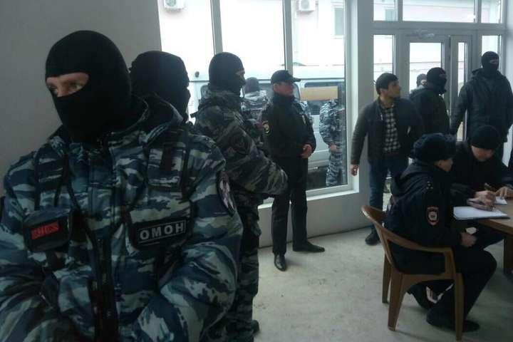Крим: назасідання ініціативи «Кримська солідарність» прийшов ОМОН