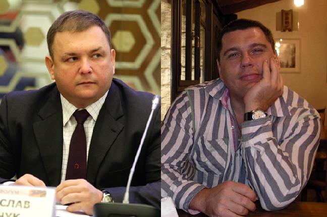 Новообранийголови Конституційного Суду Станіслав Шевчук (ліворуч) та його брат з дуже екзотичним ім'ям та прізвищем Рулав Одд