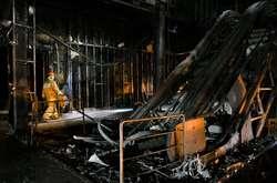 Фото: - Торговий центр «Зимова вишня» в Кемерово після пожежі.