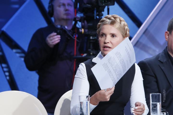 Юлія Тимошенко - частий гість на українському телебаченні