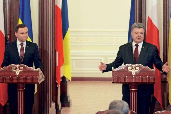 <p>Президенти Польщі та України Анджей Дуда та Петро Порошенко<i></i></p>