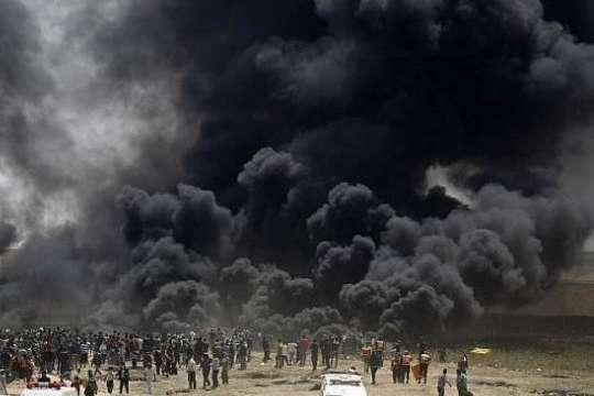 Через протести накордоні Сектору Гази сотні поранених