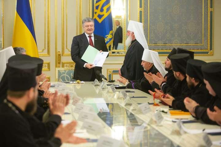 Президент зустрівся з предстоятелями православних церков України
