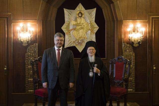 Петро Порошенко і Вселенський Патріарх Варфоломій І
