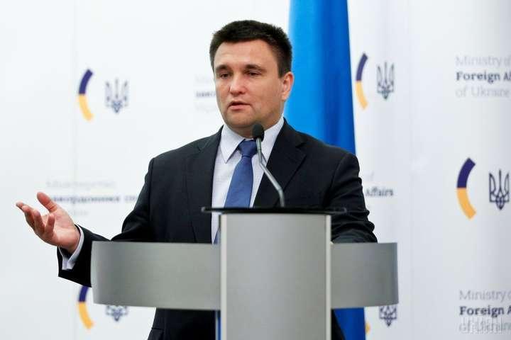 Клімкін їде у Торонто обговорити з главами МЗС Великої сімки деокупацію Криму і Донбасу