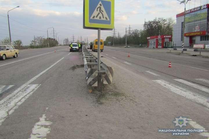 Місце смертельної ДТП на трасі Київ - Одеса