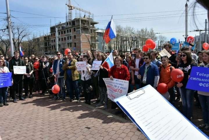 УРосії почалися антипутінські акції «Він нам нецар»