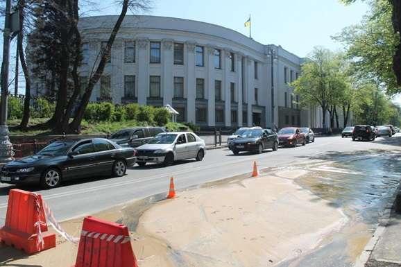 ВКиеве Рада иКабмин частично остались без воды
